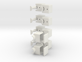 1x2x5 Cuboid in White Natural Versatile Plastic