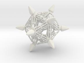 Spike Truss in White Natural Versatile Plastic