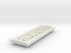 Ciondolo Raffo in White Natural Versatile Plastic