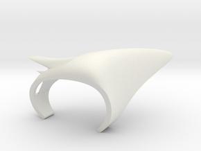 Vertebral in White Natural Versatile Plastic