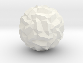 Stellated Pentagonal Hexecontahedron, hollowed in White Natural Versatile Plastic