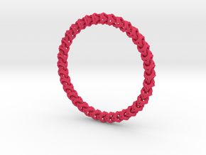 Bracelet - Crossover in Pink Strong & Flexible Polished