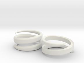(Fe)male Ring 18mm in White Natural Versatile Plastic