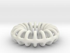 Ring-o-rings (3mm) in White Natural Versatile Plastic