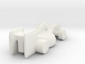 Racecar_v4 in White Natural Versatile Plastic