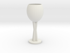 Wine glass in White Strong & Flexible