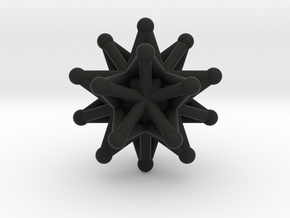 Stellated icosahedron in Black Strong & Flexible