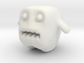 Monster in White Natural Versatile Plastic