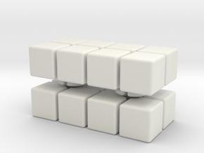 2x2x4 in White Natural Versatile Plastic