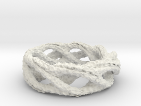 Bumped Ring 16mm in White Natural Versatile Plastic