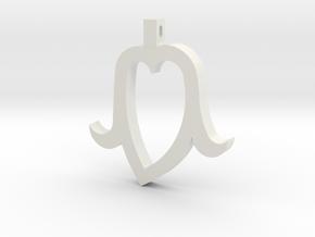 Heart Head in White Natural Versatile Plastic