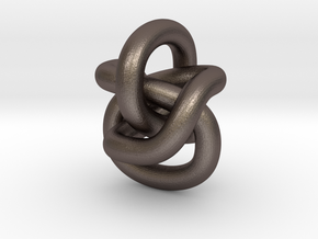 Pendant Continuous Knot in Polished Bronzed Silver Steel