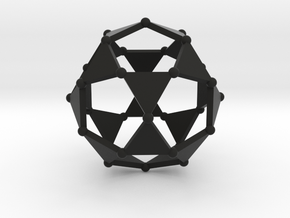 Icosidodecahedron in Black Strong & Flexible