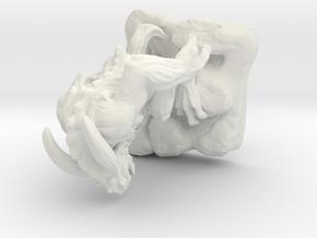 hell beast 40mm in White Natural Versatile Plastic