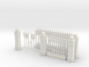 Iron Fence Kit #1 in White Natural Versatile Plastic