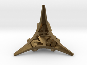 Caltrop d4 in Natural Bronze