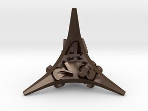 Caltrop Die4 in Polished Bronze Steel