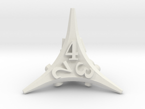 Caltrop Die4 in White Natural Versatile Plastic
