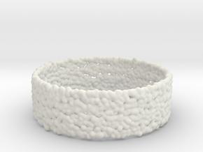 fluid_column_bracelet in White Natural Versatile Plastic