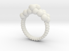 Neocube flower ring 16 in White Strong & Flexible