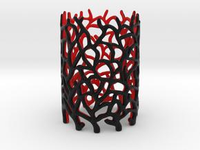 Coraline Tealight Black/Red Sandstone in Full Color Sandstone