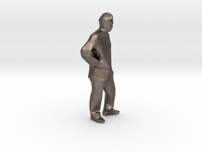 """hands on hips 1/4"""" scale in Polished Bronzed Silver Steel"""