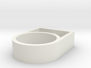 nele ring stainless in White Natural Versatile Plastic