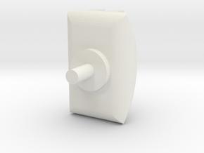 Turret 2 V2 in White Natural Versatile Plastic