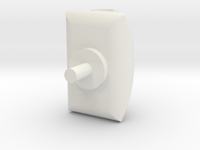 Turret 2 v3 in White Natural Versatile Plastic