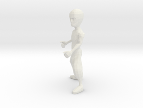 Kung Fu Dude in White Natural Versatile Plastic