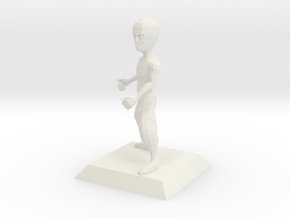 BRUCE character from Bruce Videogame in White Natural Versatile Plastic