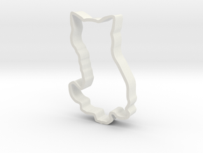 Cat Cookie Cutter in White Natural Versatile Plastic