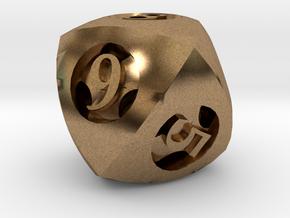 Overstuffed Die8 in Natural Brass