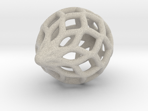 Heavier Netted Ornament in Sandstone