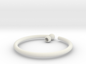 Glass Charm 1 Ring in White Natural Versatile Plastic