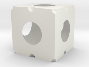 cubeish in White Natural Versatile Plastic