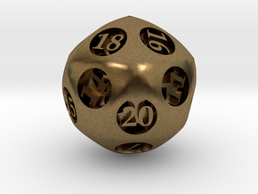 Overstuffed d20 in Natural Bronze