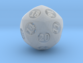 Overstuffed d20 in Smooth Fine Detail Plastic