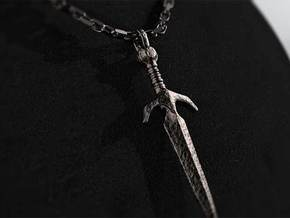 Excalibur Pendant in Polished Bronzed Silver Steel