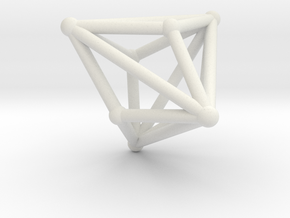 Triakistetrahedron in White Natural Versatile Plastic
