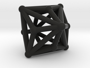 Triakisoctahedron in Black Strong & Flexible