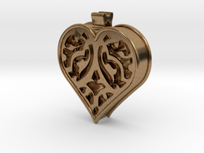 Window Heart in Natural Brass