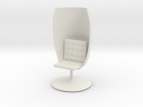GlassChair_6cm in White Natural Versatile Plastic