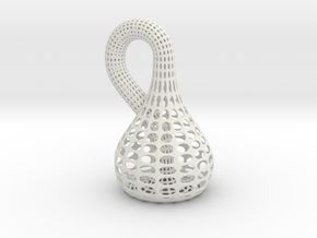 Klein Bottle in White Natural Versatile Plastic