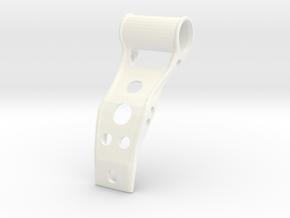 Bike Front Torch Holder Universal in White Processed Versatile Plastic