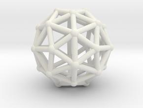 Pentakisdodecahedron in White Natural Versatile Plastic