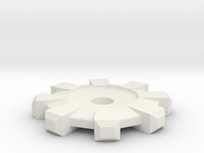 Cog in White Natural Versatile Plastic