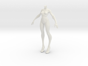 1:6 female body in White Strong & Flexible