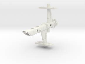 Mulcien Pavonis Class Cruiser in White Natural Versatile Plastic