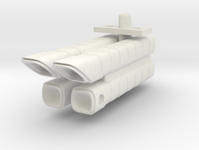 Mulcien Labeatis Class Military Freighter in White Natural Versatile Plastic